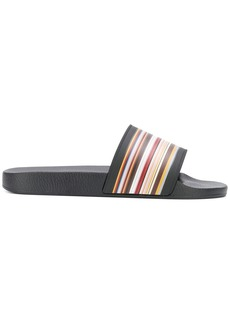 Paul Smith signature stripe Ruben slides