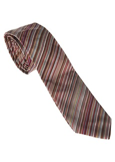 Paul Smith Signature Stripe Tie In Shades Of Red