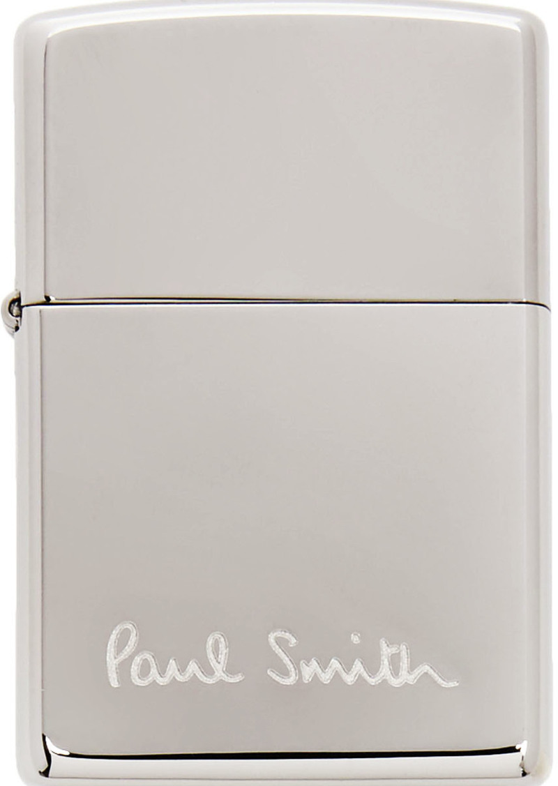 Paul Smith Silver Zippo Edition Logo Lighter