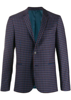 Paul Smith single breasted check pattern blazer