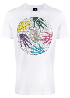 Paul Smith Skeleton Hands print T-shirt