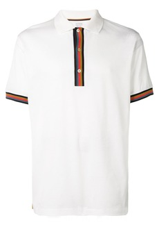 Paul Smith stripe detail polo shirt