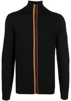Paul Smith stripe detail zipped cardigan