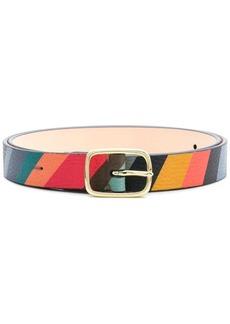 Paul Smith striped buckle belt