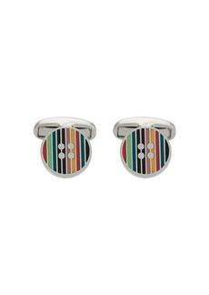 Paul Smith striped button cufflinks