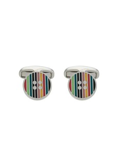 Paul Smith striped button cufflinks