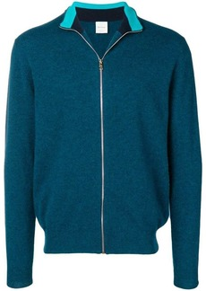 Paul Smith striped collar track top