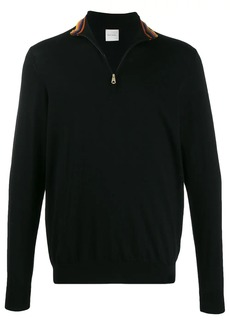 Paul Smith striped detail zipped sweater