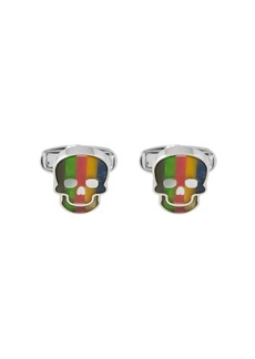 Paul Smith striped skull cufflinks
