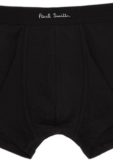 Paul Smith Three-Pack Black Logo Boxer Briefs
