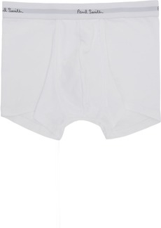 Paul Smith Three-Pack White Logo Boxer Briefs