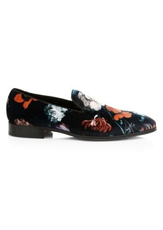 Paul Smith Tudor Floral-Print Velvet Loafers