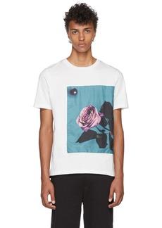 Paul Smith White Rose Appliqué T-Shirt