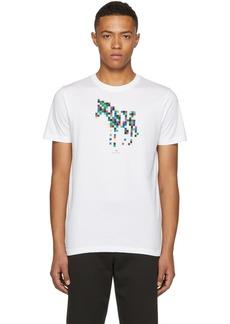 Paul Smith White Slim Fit Zebra T-Shirt