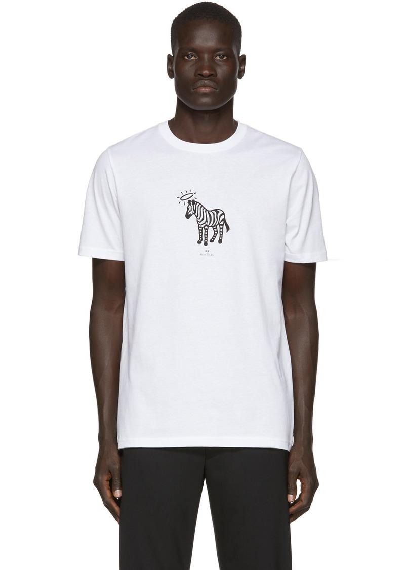 Paul Smith White Zebra Halo T-Shirt