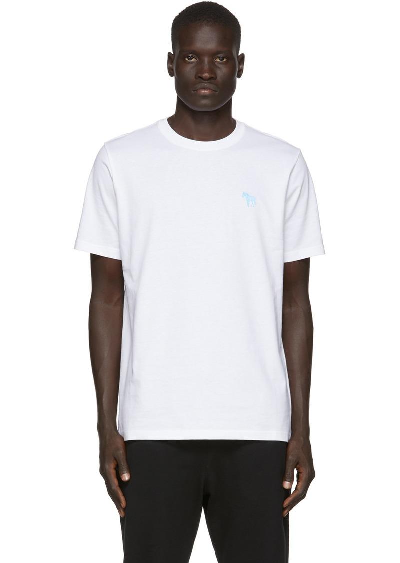 Paul Smith White Zebra Scribble T-Shirt