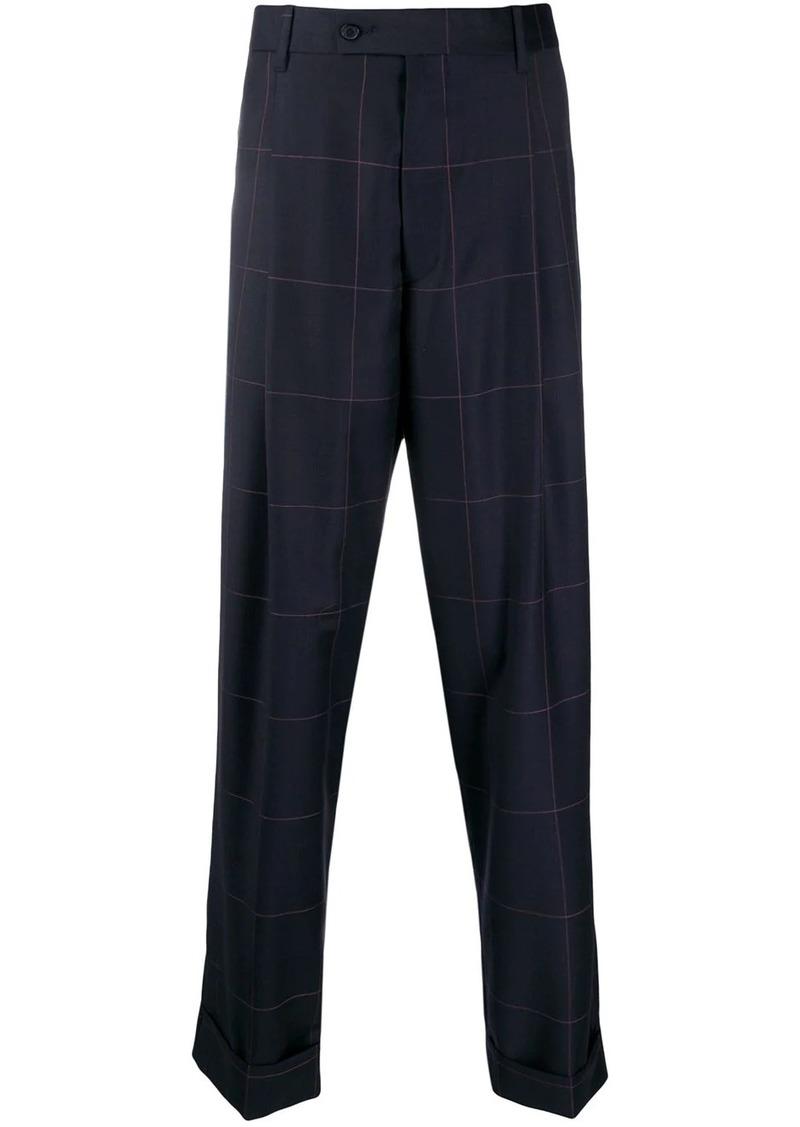Paul Smith wide-leg grid-pattern trousers