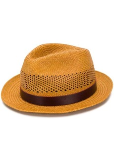 Paul Smith woven straw Fedora hat