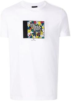 Paul Smith zebra-print cotton T-shirt