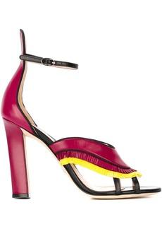 Paula Cademartori fringed high-heel sandals - Pink & Purple