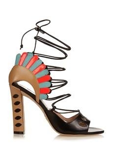 Paula Cademartori Lotus lace-up leather sandals