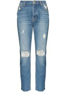 P.E Nation 1993 distressed straight-leg jeans