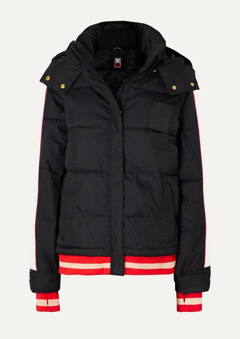 P.E Nation Dc Counterpunch Striped Hooded Quilted Ski Jacket