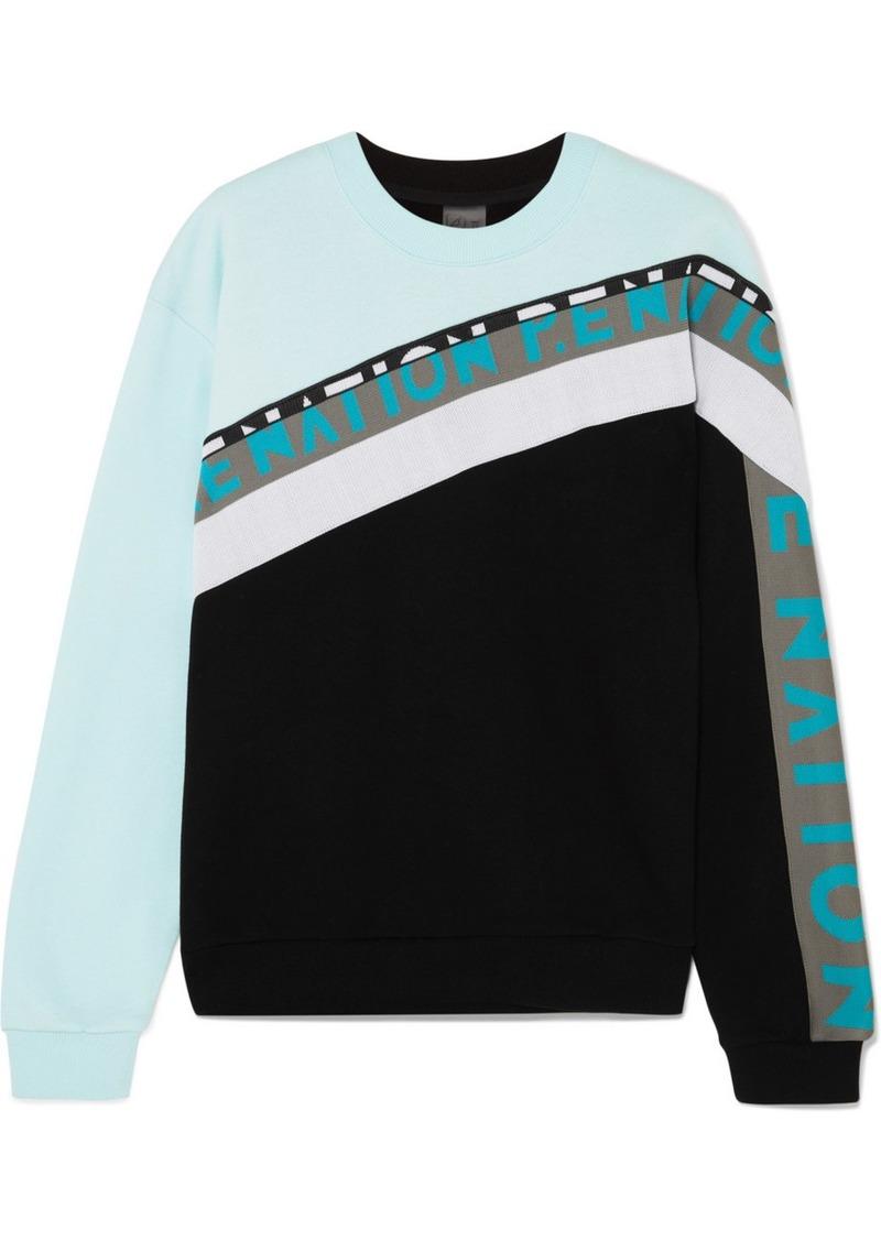 P.E Nation Double Block Paneled Cotton-jersey Sweatshirt