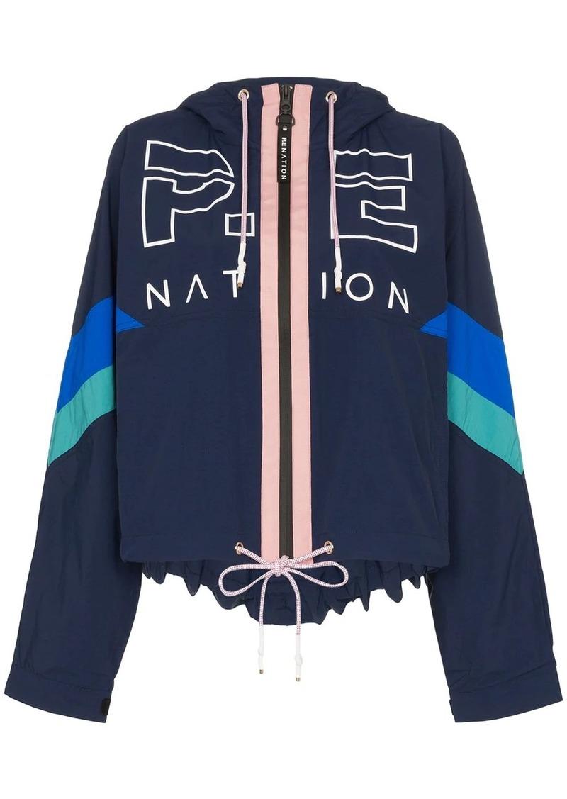 P.E Nation Electric Eye logo print jacket