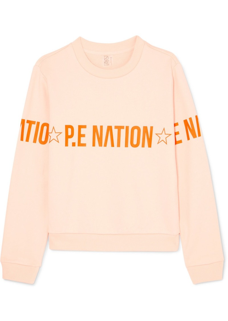P.E Nation Exposure Printed French Cotton-terry Sweatshirt