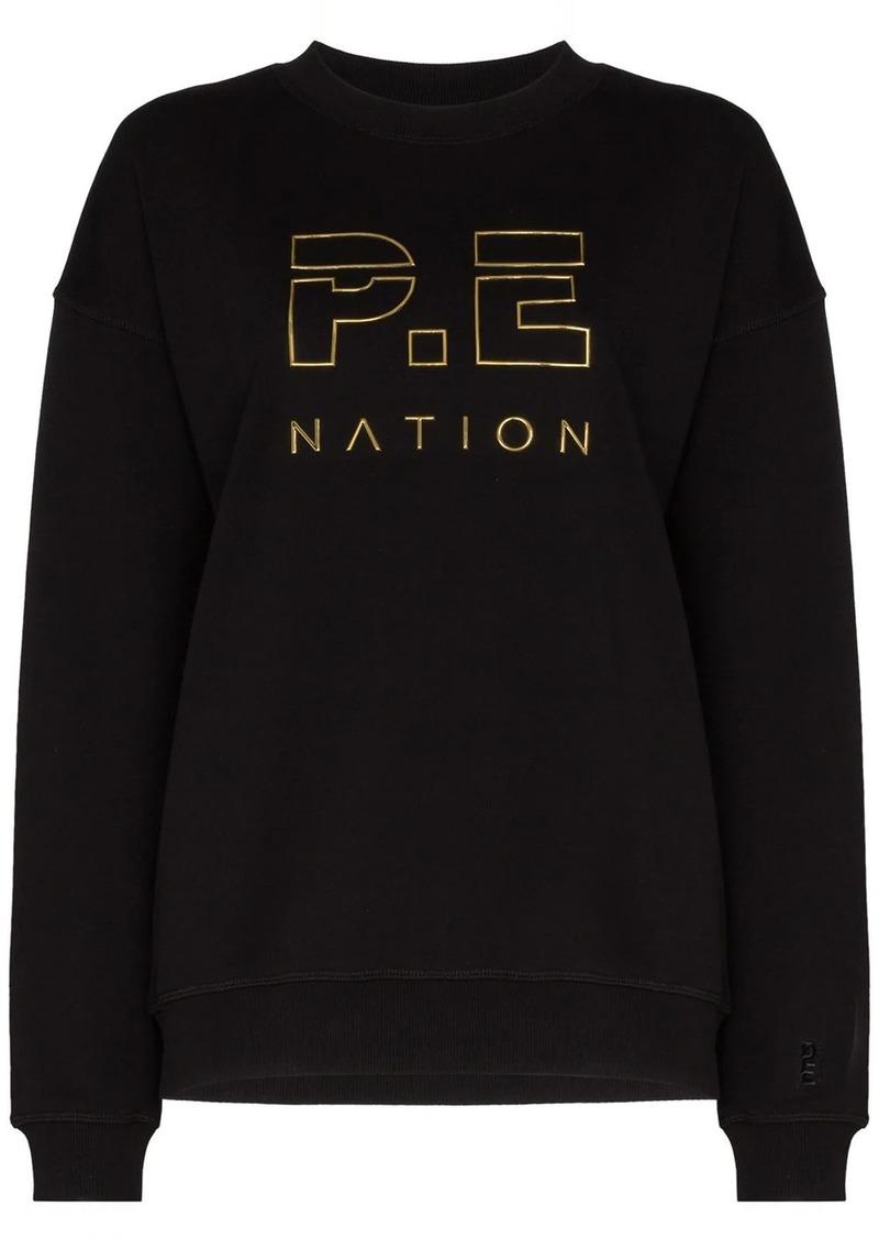 P.E Nation Heads Up logo-print sweatshirt