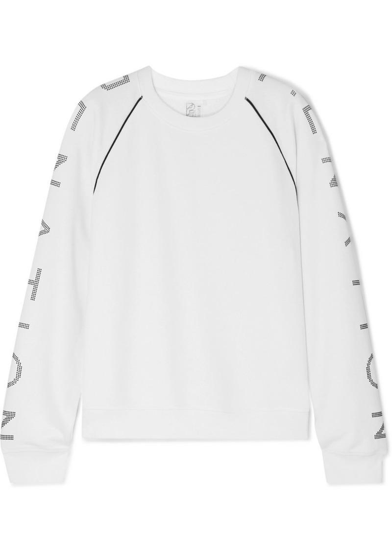 P.E Nation Highline Printed Cotton-jersey Sweatshirt