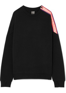 P.E Nation Major Win Oversized Zip-detailed Stretch-neoprene Sweatshirt