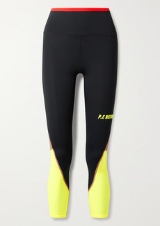 P.E Nation Opponent Mesh-trimmed Recycled Stretch Leggings