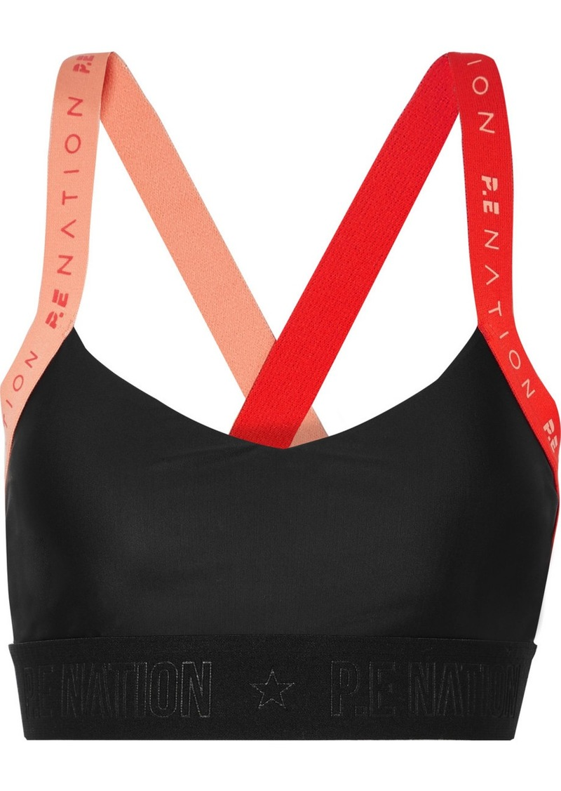 Overshot Color-block Stretch Sports Bra