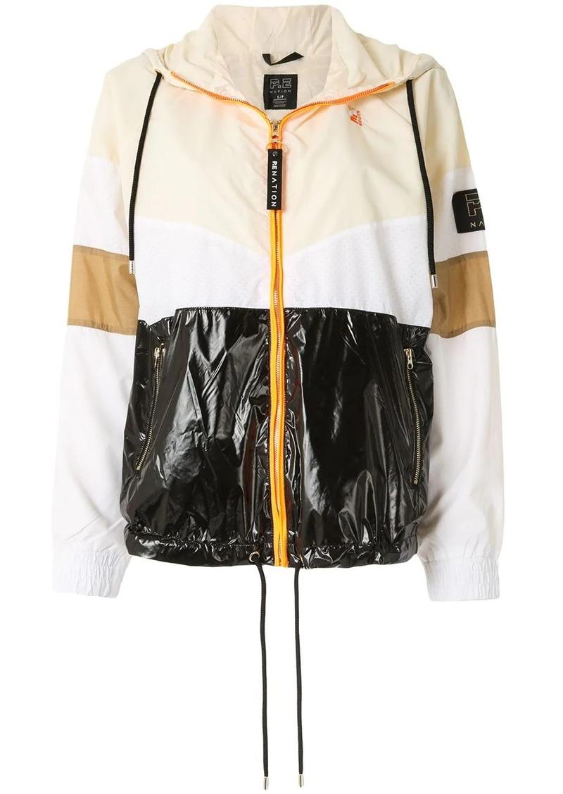 P.E Nation panelled raincoat