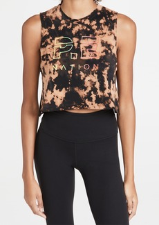 P.E NATION Bleach Out Cropped Tank