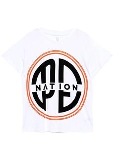 P.e Nation Woman Acrobatics Printed Cotton-jersey T-shirt White