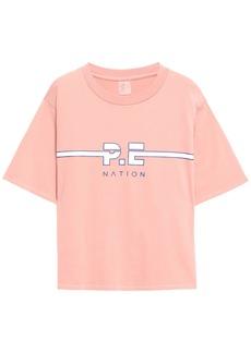 P.e Nation Woman Active Duty Printed Cotton-jersey T-shirt Blush