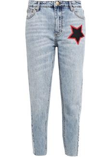 P.e Nation Woman Miller Cropped Printed High-rise Slim-leg Jeans Light Denim