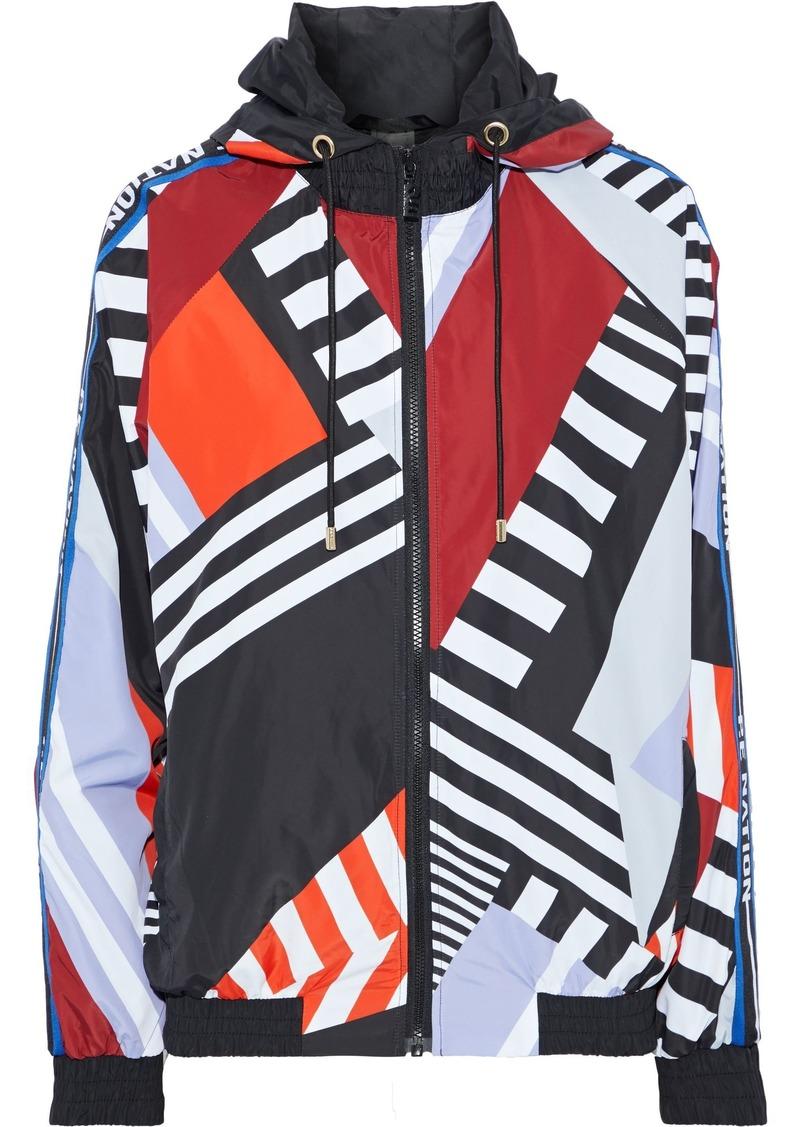 P.e Nation Woman Printed Shell Hooded Jacket Multicolor