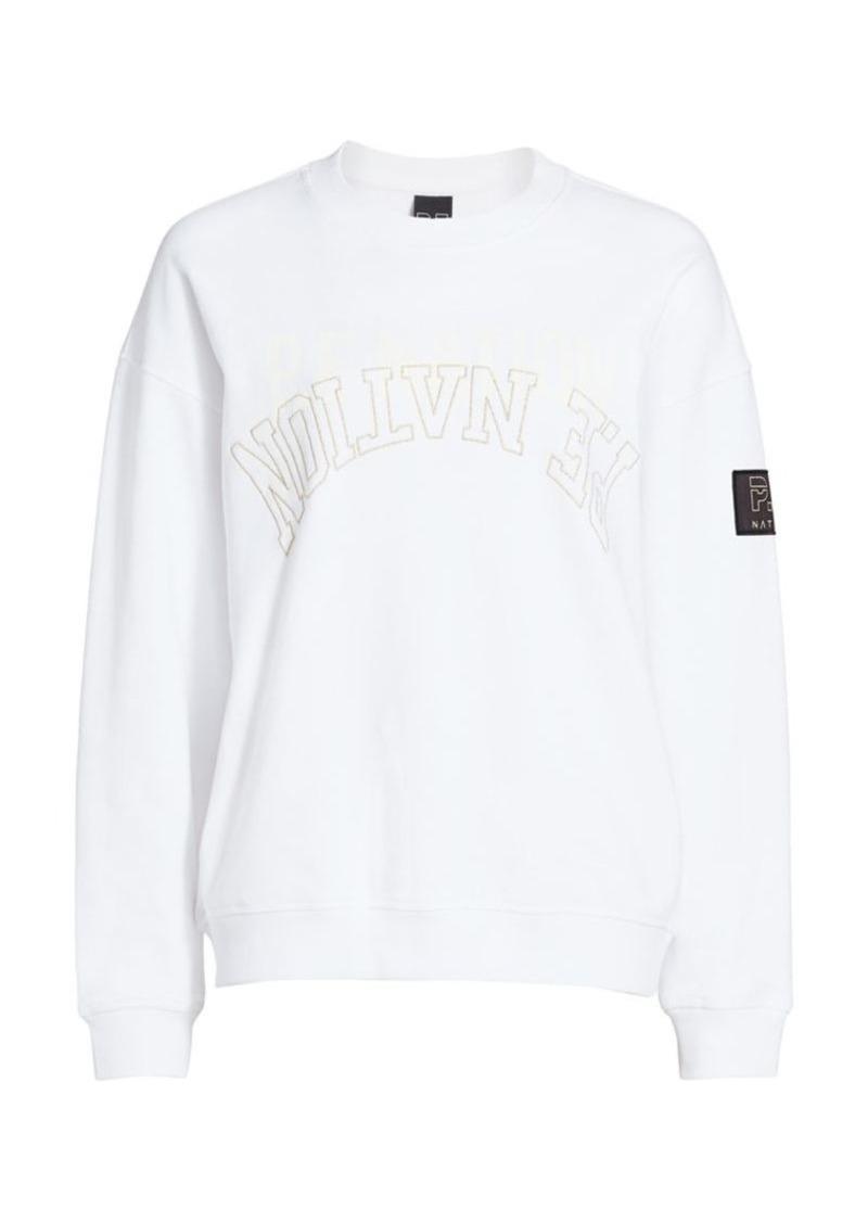 P.E Nation Sidelined Logo Embroidery Sweatshirt