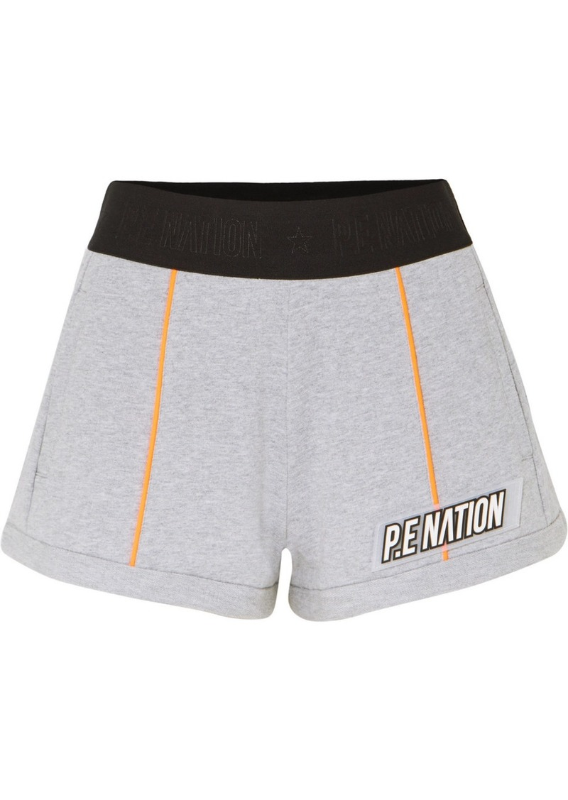 P.E Nation Superfly French Cotton-terry Shorts