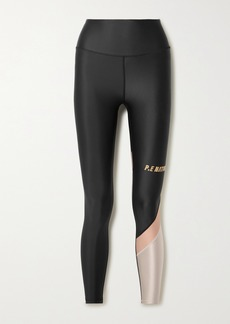 P.E Nation Sweeper Color-block Recycled Stretch Leggings