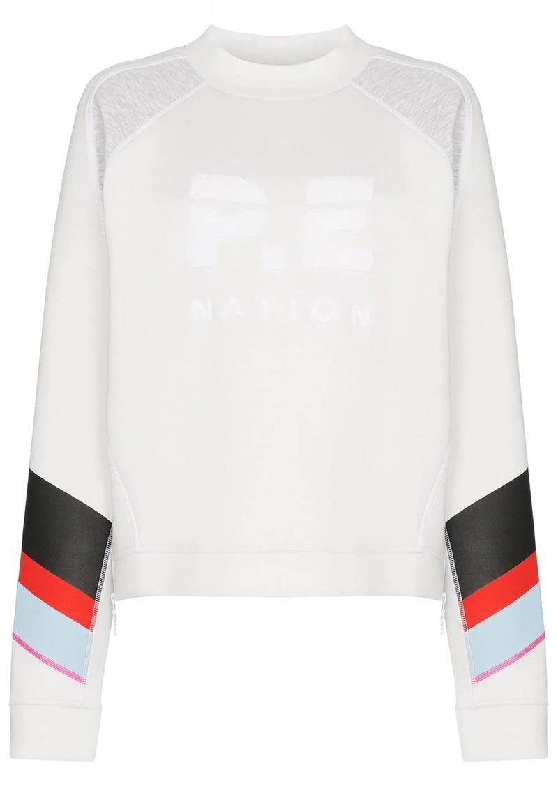 P.E Nation textured logo sweatshirt