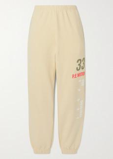P.E Nation Triple Double Printed Organic Cotton And Hemp-blend Jersey Track Pants