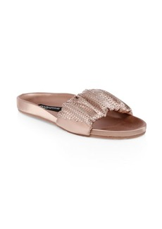 Pedro Garcia Adana Metallic Leather Slides