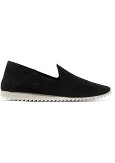 Pedro Garcia Cristiane Perforated Suede Slip-on Sneakers