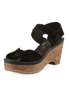 Pedro Garcia Fah Suede  Cork-Wedge Sandals