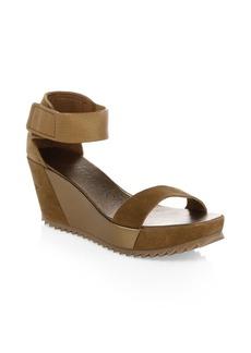 Pedro Garcia Fidelia Suede & Leather Wedge Heels